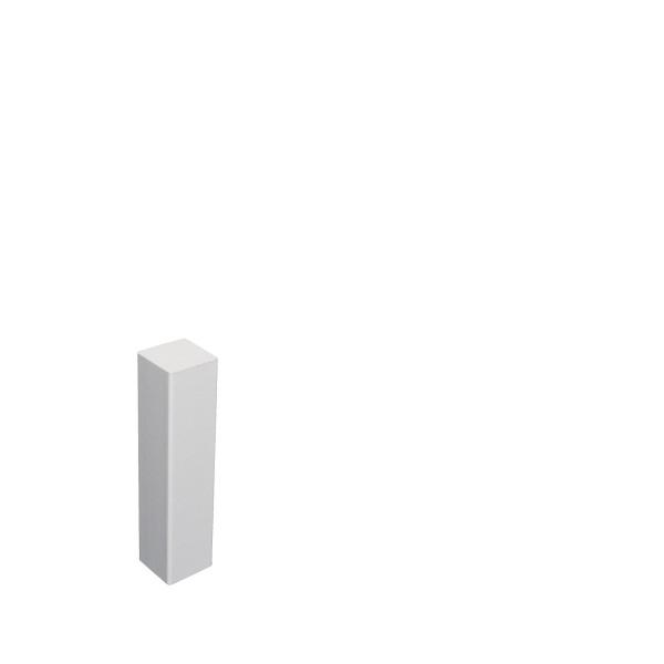 Universal Eckblock Eckturm Eckstab MDF WEISS 85mm
