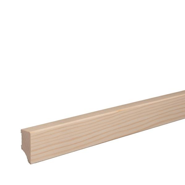 Massivholz-Sockelleiste Fichte ROH Weimarer Profil Moderne Fußleiste 40mm