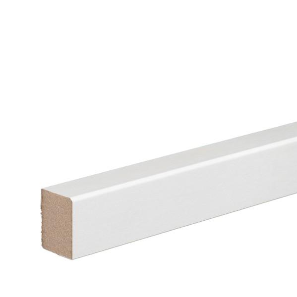 Vorsatzleiste Deck- Abschluss- Sockelleiste MDF WEISS Folie 20x15x2300mm