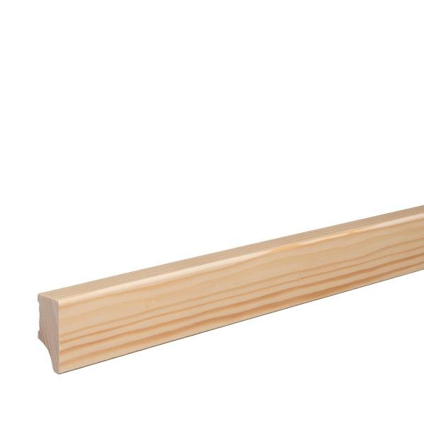 Massivholz-Sockelleiste Fichte GEÖLT Weimarer Profil Moderne Fußleiste 40mm