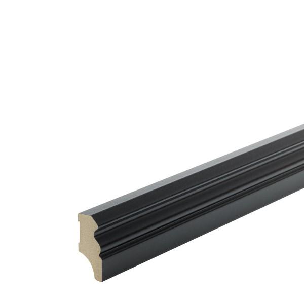 Sockelleiste MDF schwarz foliert Hamburger Berliner Profil 40mm