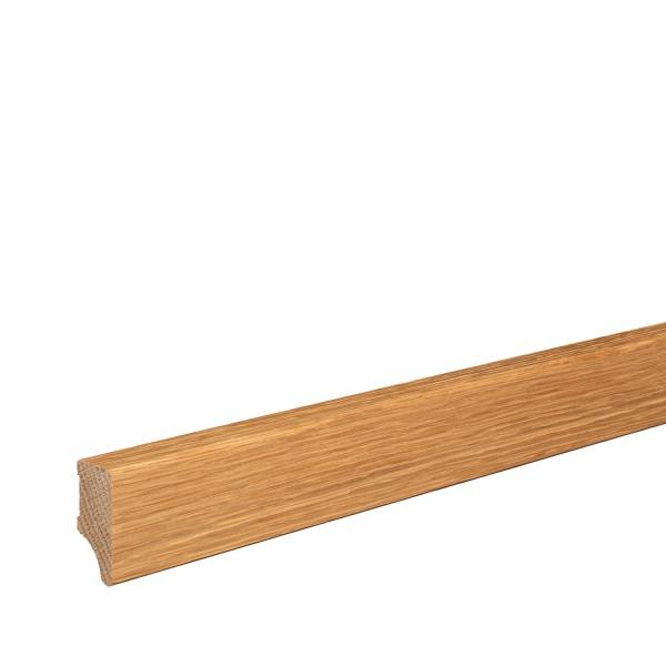 Sockelleiste Massiv Holz Eiche natur lackiert Weimarer Profil Modern 40mm