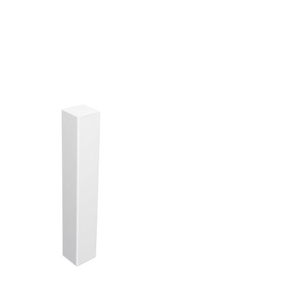 Universal Eckblock Eckturm Eckstab MDF WEISS 125mm