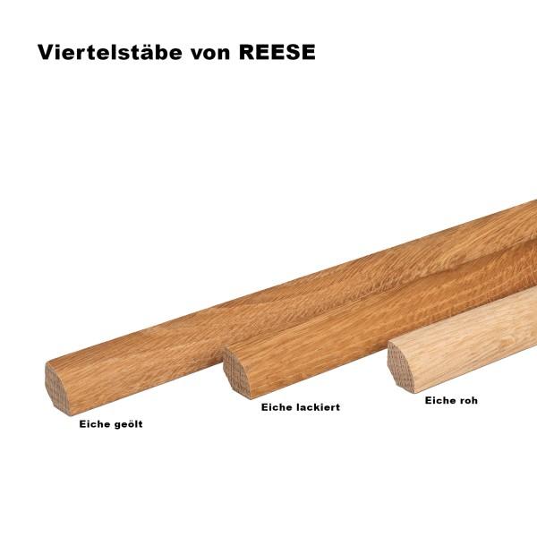 Viertelstab Abdeckleiste Abschlussleiste Sockelleiste Eiche ROH Massivholz 14mm