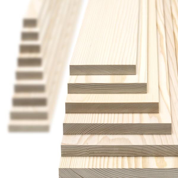 Glattkantbrett -Kiefer/Fichte gehobelt- 19 mm stark x Wunschbreite x 600mm lang