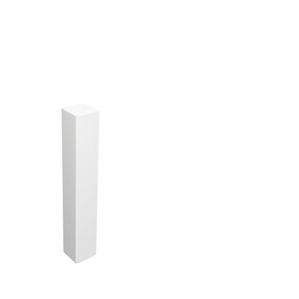 Universal Eckblock Eckturm Eckstab Buche WEISS 125mm