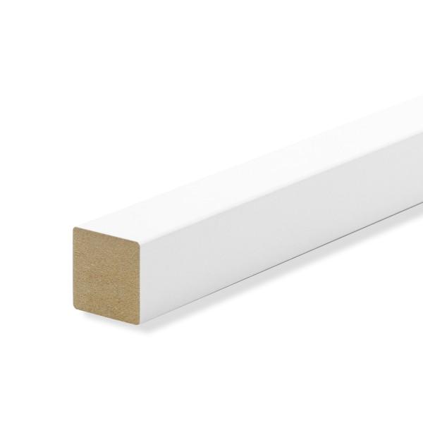 Quadratleiste Vierkantleiste Bastelleiste Abdeckleiste MDF WEISS Folie 20mm