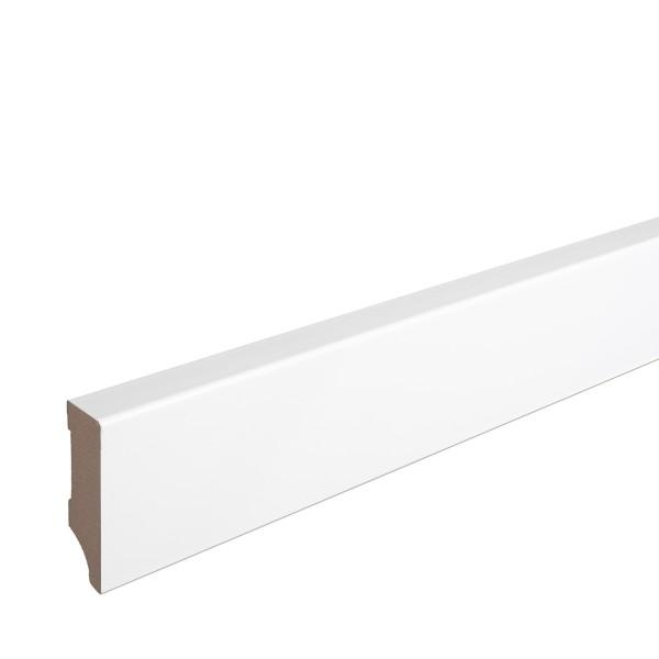 Sockelleiste MDF weiß foliert Weimarer Profil Modern 60mm