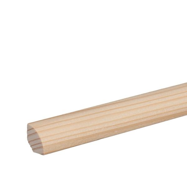 Viertelstab Abdeckleiste Abschlussleiste Sockelleiste Fichte GEÖLT 14mm