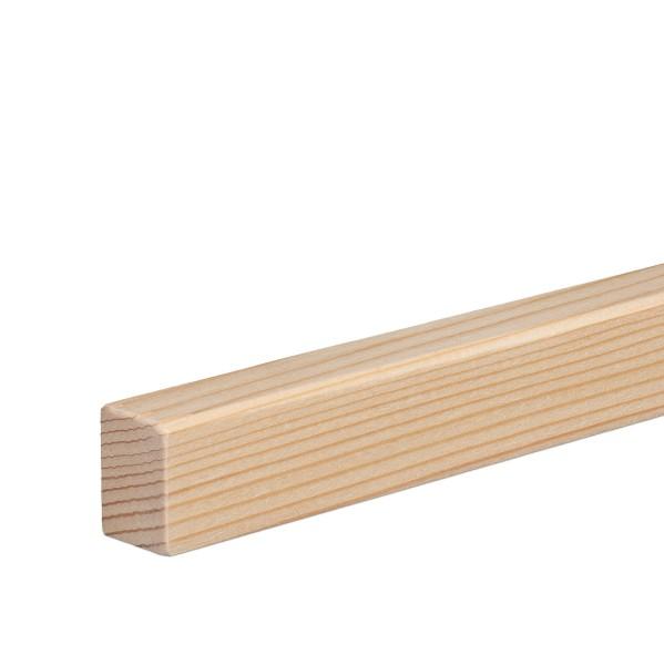 Vorsatzleiste Deck- Abschluss- Sockelleiste Fichte GEÖLT Massivholz 20x15x2300mm