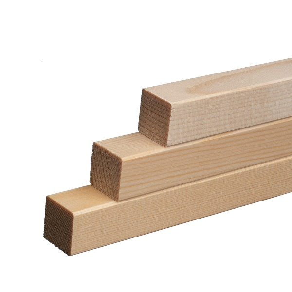 Quadratleisten Abschlussleisten Sockelleisten Fichte Massivholz 20x20x2300mm