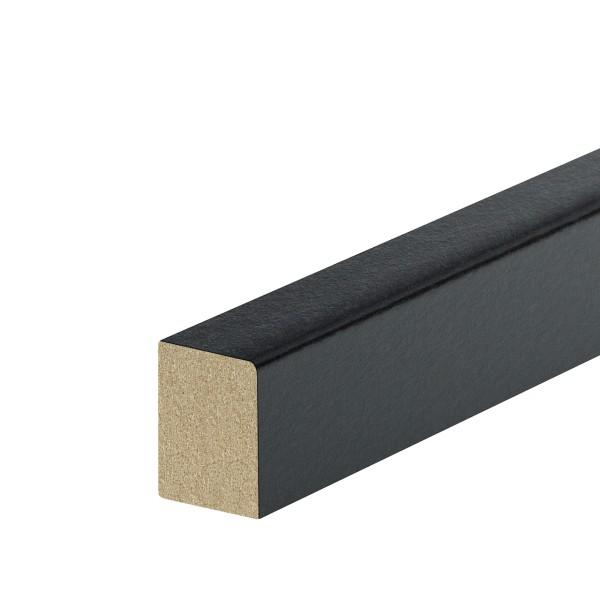 Vorsatzleiste Deck- Abschluss- Sockelleiste MDF SCHWARZ Folie 20x15x2300mm
