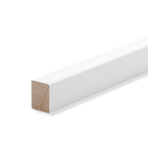 Vorsatzleiste Deck- Abschluss- Sockelleiste Buche WEISS Massivholz 20x15x2300mm
