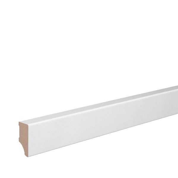 Sockelleiste MDF weiß foliert Weimarer Profil Modern 40mm