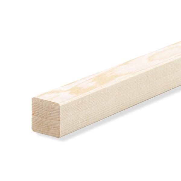 Quadratleiste Abschlussleiste Sockelleiste Fichte ROH 20x20x2300mm [SPARPAKET]
