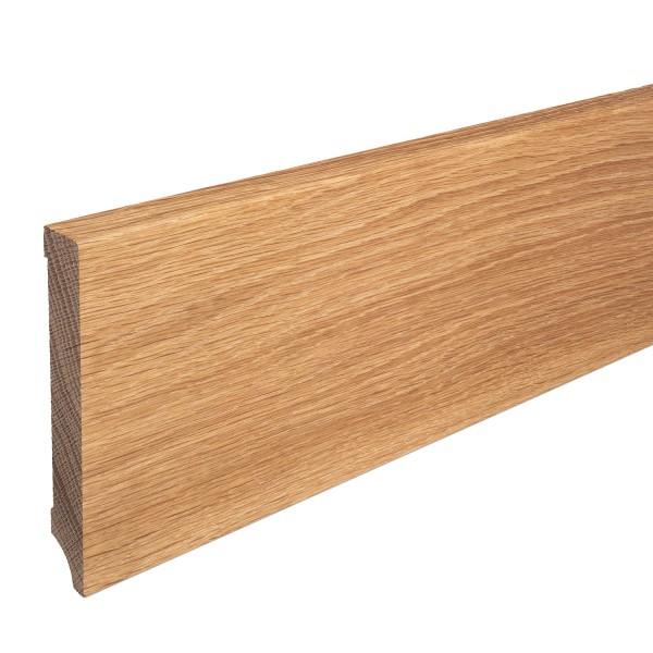 Sockelleiste Massiv Holz Eiche natur lackiert Weimarer Profil Modern 150mm