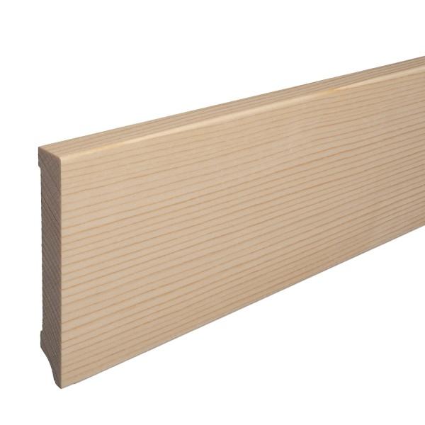 Massivholz-Sockelleiste Fichte ROH Weimarer Profil Moderne Fußleiste 120mm