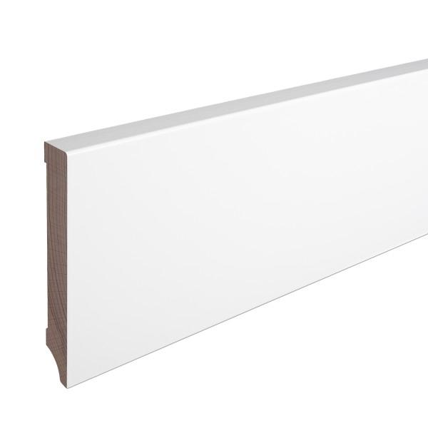 Sockelleiste Massiv Holz Buche weiß lackiert Weimarer Profil Modern 120mm