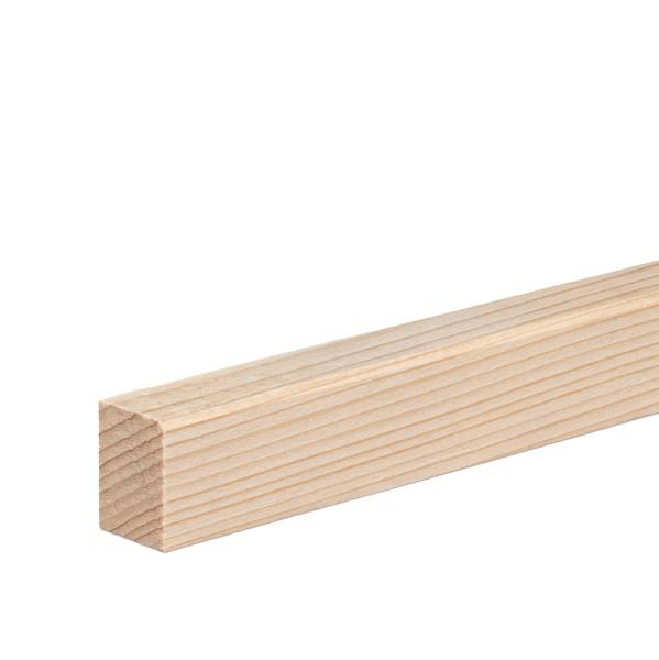 Vorsatzleiste Deck- Abschluss- Sockelleiste Fichte ROH Massivholz 20x15x2300mm