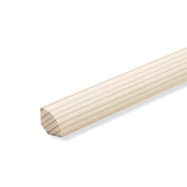 Viertelstab Abdeckleiste Abschlussleiste Sockelleiste Fichte ROH + Massiv 14mm